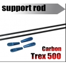 Carbon fiber tail support rod for 500 size