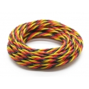 Twisted 22AWG Servo Wire Red/Black/Yellow  (1 metro)
