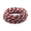 Twisted 22AWG Servo Wire Red/Black/White (1 Metro)