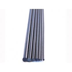 Vara de fibra de carbono maciço diam.3mmx1000mm