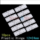 Plastic Pinned Hinges W12xL24mm