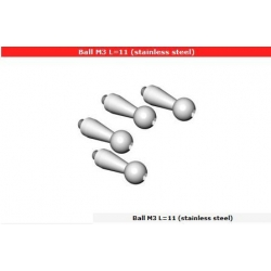 Ball M3 L=11 (stainless steel) (4 pezzi)