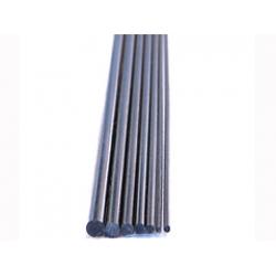 Vara de fibra de carbono maciço diam. 2.0mm.x1mt