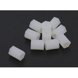 5.6mm x 8mm M3 Nylon Tapped Spacer (10pc)