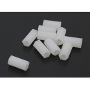 5.6mm x 12mm M3 Nylon Tapped Spacer (10pc)