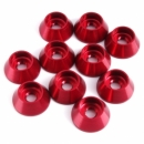 Cone Aluminum Alloy Gasket/Washer M4 (10pcs/bag) Red Color