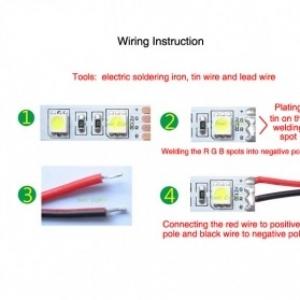 Waterproof 20cm LED Strap Lights Red Color 5pcs
