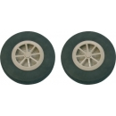 Wheel rubber w. profile 51mm ( par )