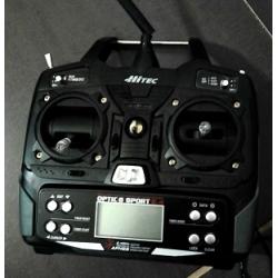Usado: Radio Hitec 2.4GHz de 6 canais